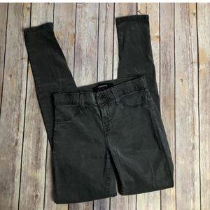 J Brand Super Skinny Armour Gray Wash Denim Jeans